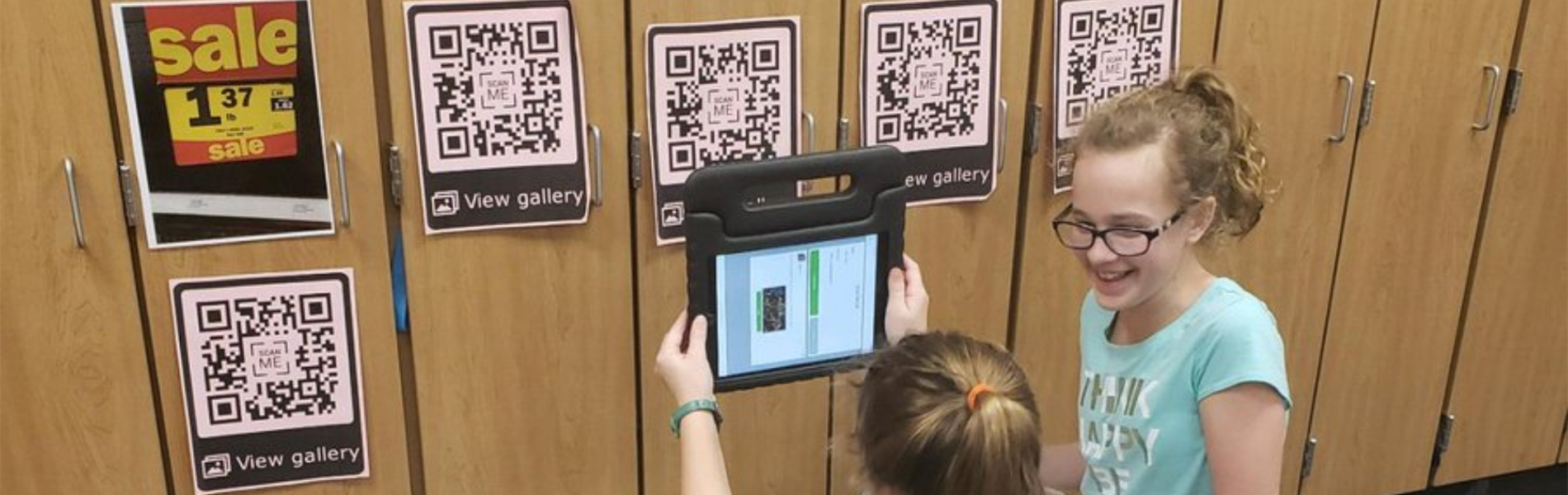 QR codes with 5th graders