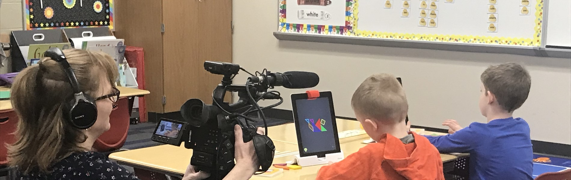 PBS videotaping student learning with ipads
