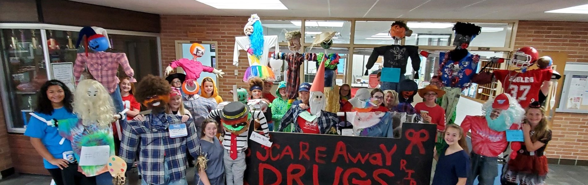Red Ribbon Week at EMS - Scare Away Drugs!