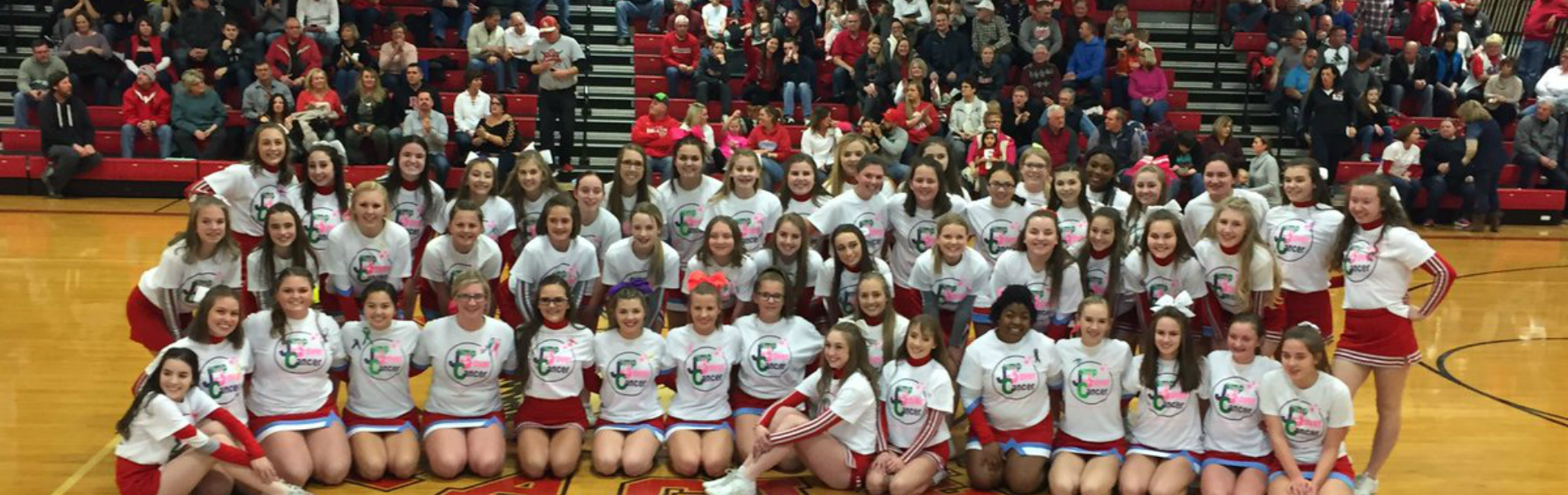 Jump Over Cancer - Eastwood and Bowling Green cheerleaders raise $7,600 for American Cancer Society
