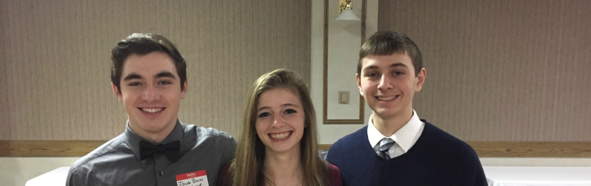 Congratulations to our recent EHS Students of the Month Jacob B., Lauren W., and Alec G.
