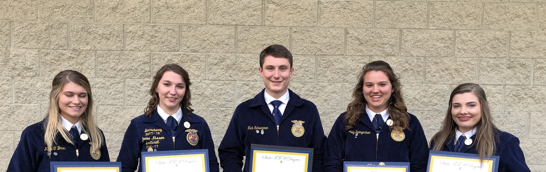 Congratulations to our 5 State FFA Degree recipients!