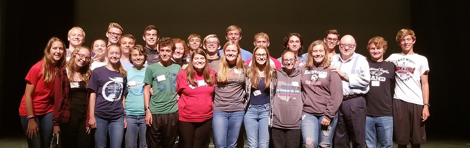 Eastwood Band members attend leadership clinic with Dr. Tim Lautzenheiser